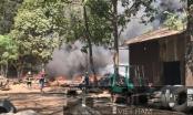Bình Dương: Bãi chứa lốp ô tô rộng hàng ngàn m2 bốc cháy dữ dội