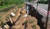 Phú Thọ: Con đường 15 tỷ vừa thi công xong đã sạt lở nghiêm trọng