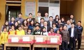 Đoàn thiện nguyện tỉnh Hưng Yên trao quà cho trường nghèo tại Lào Cai