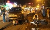 Nam tài xế mặc sắc phục công an lái ô tô tông hàng loạt xe máy