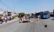 Một phụ nữ bị xe đầu kéo cán tử vong trên đường đi chơi Suối Tiên