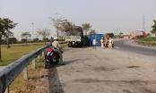 TP HCM: Đậu xe ngủ ngay khu vực cấm, xe tải bị thùng xe container rơi trúng