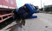 """Đồng Nai: Hoảng hồn nhìn xe container """"rụng"""" đầu sau cú tông kinh hoàng"""