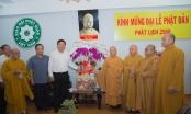 Bí thư Thành ủy Đinh La Thăng chúc mừng Giáo hội Phật giáo Việt Nam nhân Đại lễ Phật đản 2016