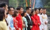 Xúc động đám cưới tập thể của 40 cặp đôi già và trẻ ở Thủ đô