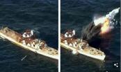 Tên lửa Triều Tiên xuyên thủng tàu chiến trên biển