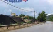 Yên Bái: Tùy tiện tháo dỡ hộ lan đường quốc lộ 32C để lập bến bãi cát sỏi