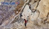 Yên Bái: Nguy hiểm rình rập tại công trường khai thác đá cảnh tại huyện Văn Chấn