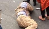 """Hà Nội: Cảnh sát Giao thông bị """"quái xế"""" kéo lê hàng chục mét"""
