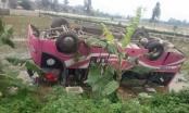 Quảng Ninh: Mồng 7 Tết, xe khách nổ lốp lật ngửa, 20 người bị thương
