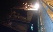 Cận cảnh hiện trường vụ tàu thủy 3.000 tấn đâm nứt cầu tại Hải Dương