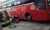 Hà Nội: Đang thay lốp xe thì bất ngờ phát nổ, người đàn ông bị hất văng ra xa