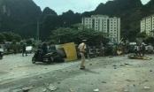 Quảng Ninh: Xe container đâm vào vỉa hè lật ngửa, tài xế nguy kịch