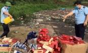 Hải quan Quảng Ninh tiêu hủy thuốc lá, đồ chơi trẻ em nhập lậu