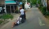Video: Phẫn nộ với tên cướp điện thoại của cô gái, kéo lê nạn nhân hàng trăm mét trên đường