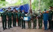 Lãnh đạo Bộ tư lệnh Quân khu 7 thăm, tặng quà các chốt phòng, chống dịch Covid-19 trên biên giới tỉnh Tây Ninh