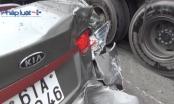 Bình Dương: Xe khách tông ô tô 4 chỗ, 1 người nhập viện