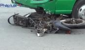Bình Dương: Xe khách lùa xe máy vào gầm, 1 người tử vong