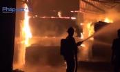 Bình Dương: Bà hỏa thiêu rụi xưởng ván ép trong đêm