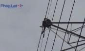 Bình Dương: Nghi ngáo đá, nam thanh niên trèo lên trụ điện cố thủ