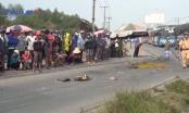 TP HCM: Xe máy va chạm với xe tải, 2 người thương vong