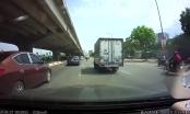 Clip: Xe Kia Morning sang đường thiếu quan sát va chạm với xe tải vỡ phần đầu