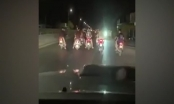 [Clip]: Nhóm thanh niên chạy xe máy dàn hàng ngang, cản trở các phương tiện lưu thông trên QL1A