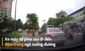 [Clip]: Điều khiển xe máy sai làn, vượt ẩu người đàn ông nhận trái đắng