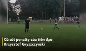 [Clip]: Pha sút penalty điệu nghệ bằng gót chân của tiền đạo Krzysztof Gryszczynski