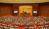 Các ĐBQH thảo luận ở hội trường về dự thảo Báo cáo công tác của Quốc hội nhiệm kỳ Khóa XIV