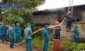 Cháy lớn tại Công ty cổ phần xây dựng tổng hợp Tuyên Quang