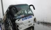 Xe chở công nhân Samsung gặp nạn, lao lên đường Nội Bài - Nhật Tân
