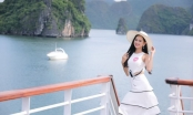 Thí sinh Hoa hậu Việt Nam tham quan Vịnh Hạ Long trên du thuyền 5 sao