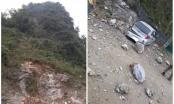 Động đất tại Cao Bằng, đá núi lở khiến một ô tô bị hư hỏng