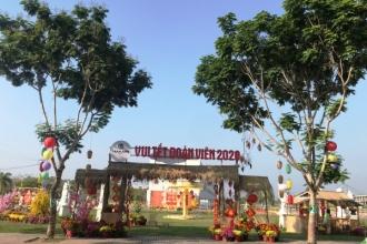 Rực rỡ đường hoa và nét Sài Gòn xưa giữa khu đô thị La Villa Green City