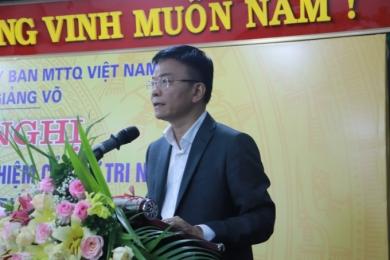 Cử tri đồng ý giới thiệu Bộ trưởng Bộ Tư pháp ứng cử đại biểu Quốc hội