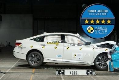 Honda Accord đạt chứng nhận an toàn 5 sao ASEAN NCAP