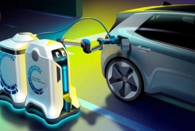 Robot có thể tự động sạc điện cho ô tô