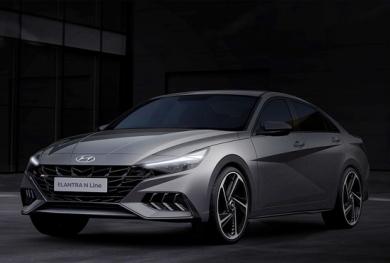Hyundai Elantra N Line 2021lộ thiết kế tuyệt đẹp, cạnh tranh Mazda3 Turbo