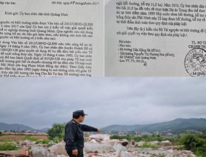 Quảng Ninh: Lùm xùm trong việc xác định nguồn gốc đất, người dân cầu cứu Bộ Tài nguyên Môi trường!