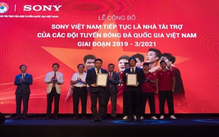 Sony Việt Nam tiếp tục là Nhà tài trợ của các Đội tuyển Bóng đá Quốc gia Việt Nam
