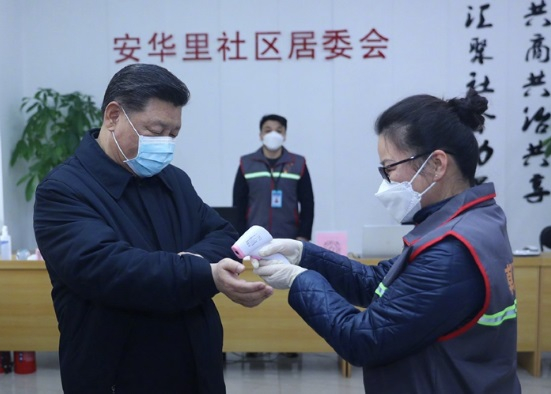 Ảnh ông Tập Cận Bình bất ngờ kiểm tra phòng chống virus corona