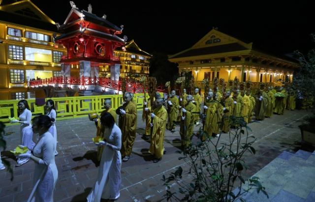 Trang nghiêm lễ khai pháp khóa An cư Kiết hạ PL.2564 tại Học viện Phật giáo Việt Nam