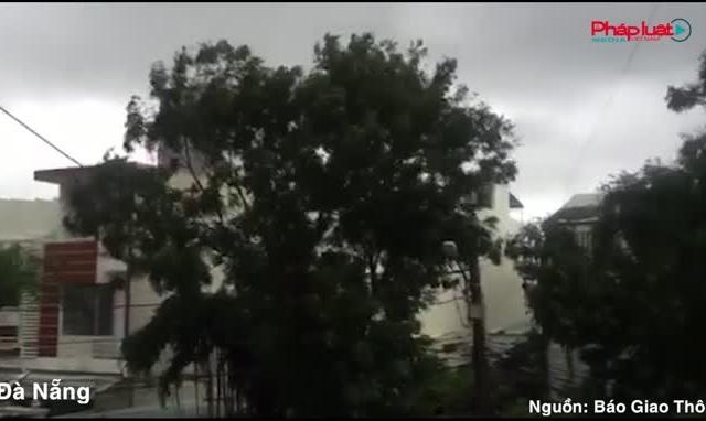 Video: Bão số 9 gây mưa to, gió lớn tại miền Trung