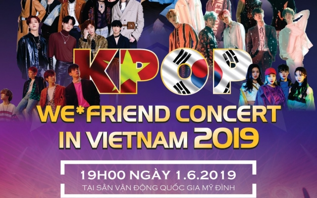 Dàn sao Hàn đổ bộ Đại nhạc hội We * Friend Concert in Vietnam 2019