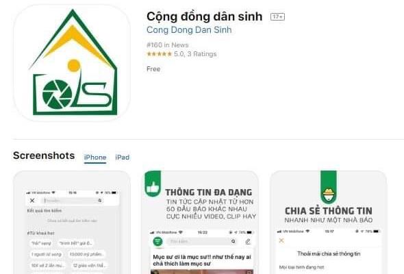 Ra mắt ứng dụng đọc báo kết hợp mạng xã hội trên App Cộng đồng dân sinh