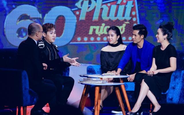 Lê Phương bầu vượt mặt vẫn đến ủng hộ Nguyên Vũ trong show hát tái hiện sự nghiệp
