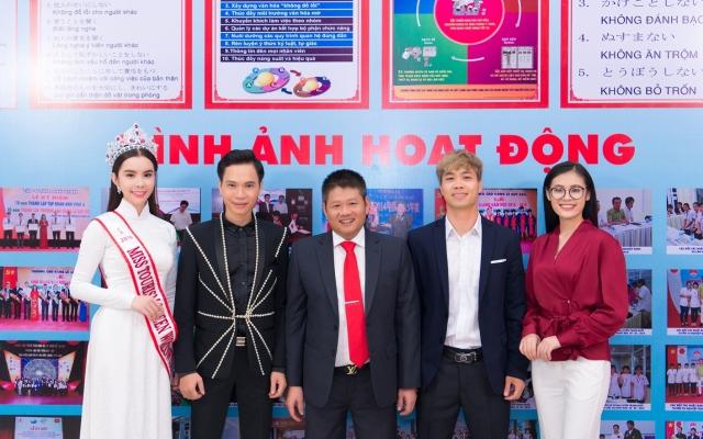 Hoa hậu Huỳnh Vy, Công Phượng trở thành Đại sứ trường Cao đẳng Lê Quý Đôn
