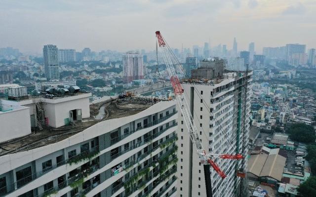Phúc Khang tổ chức lễ nối cầu dây văng Sky Park tại dự án Diamond Lotus Riverside