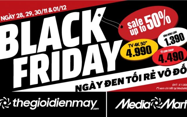 BLACK FRIDAY: Hệ thống siêu thị điện máy MediaMart giảm giá cực sốc trong 4ngày vàng